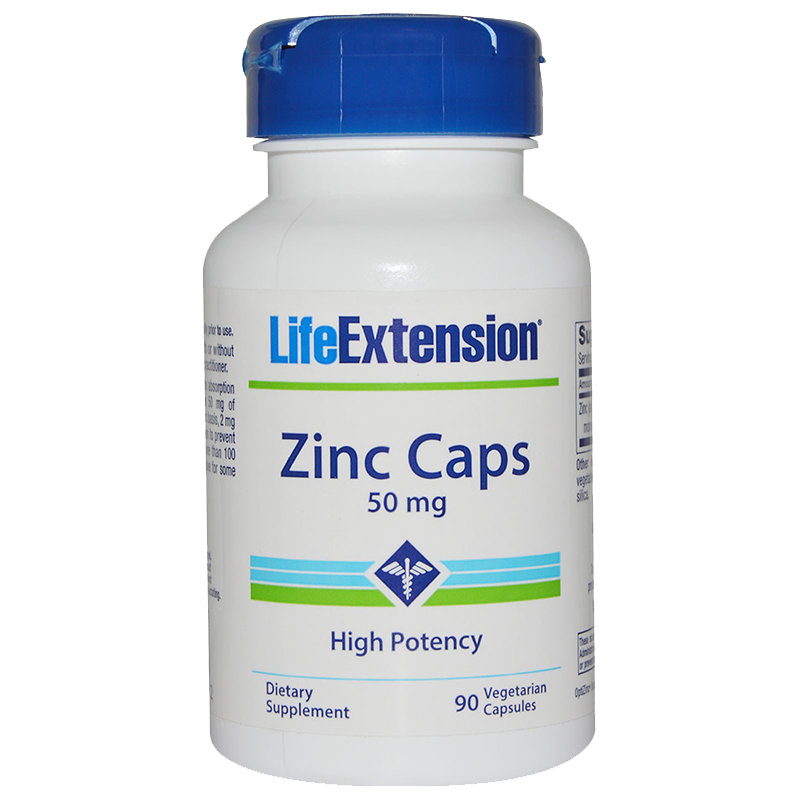 LifeExtension Zinc, (50mg), 90 Caps