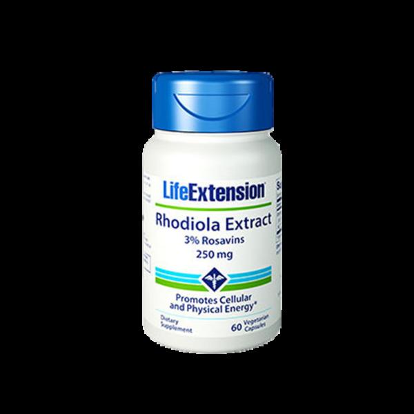 LifeExtension Rhodiola Extract, 250mg, 60 caps