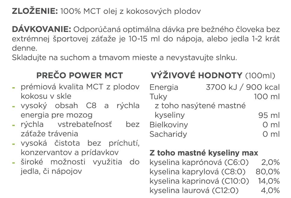 Powerlogy MCT olej, 500ml